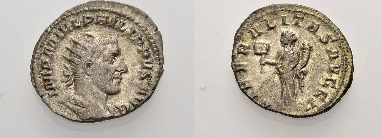 Antoninian 244-247 ROM, KAISERZEIT PHILIPPUS I. ARABS Sehr schön