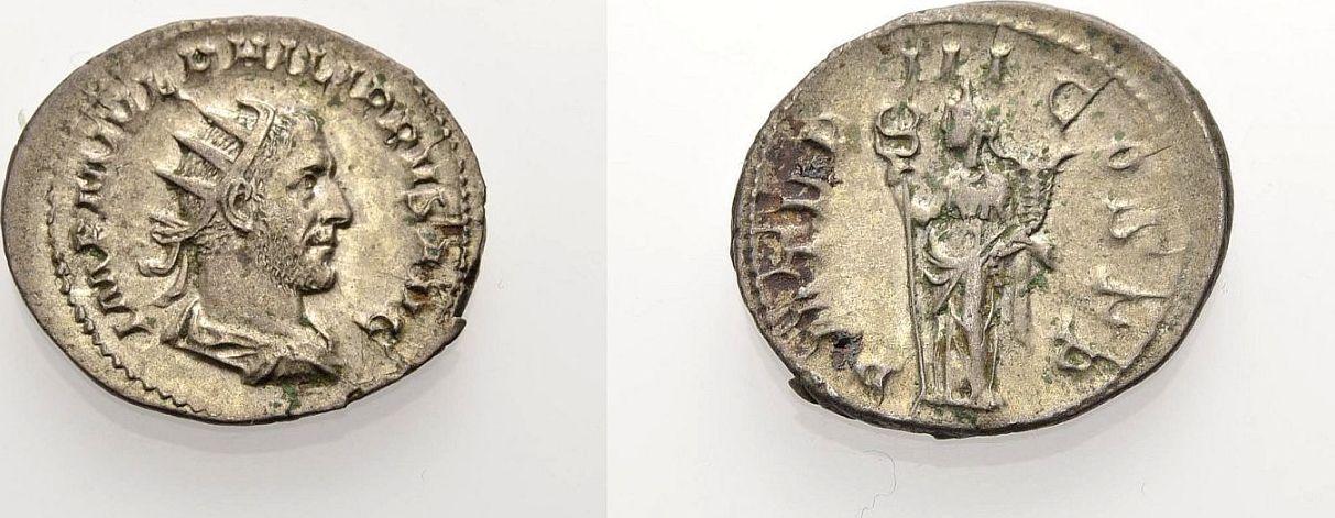 Antoninian 246 ROM, KAISERZEIT PHILIPPUS I. ARABS Sehr schön