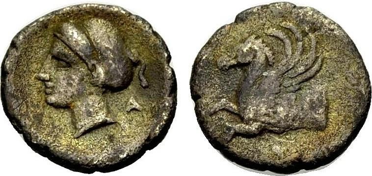 Hemidrachmon 345-307 v. Chr. GRIECHISCHE MÜNZEN KORINTH Knapp sehr schön