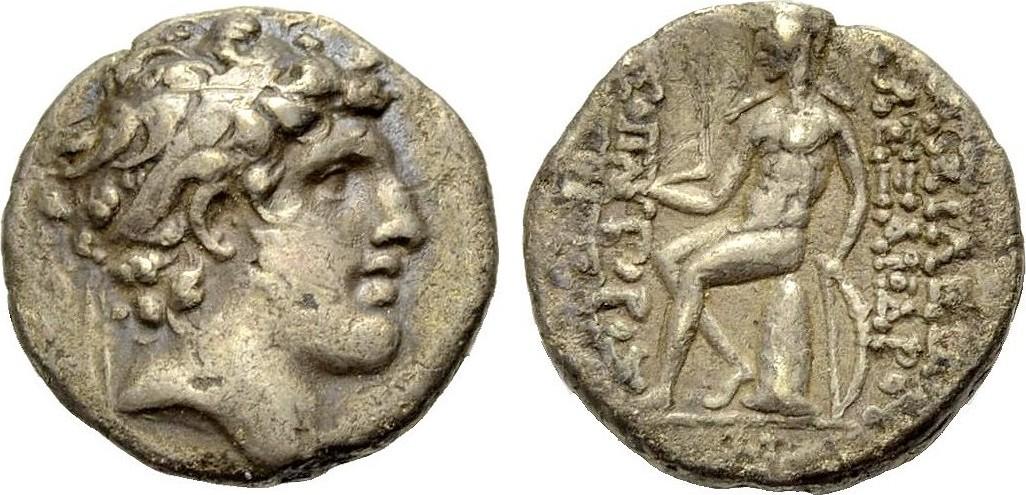 AR Drachme 150-149 v. Chr. KÖNIGREICH DER SELEUKIDEN ALEXANDER I. BALAS Sehr schön