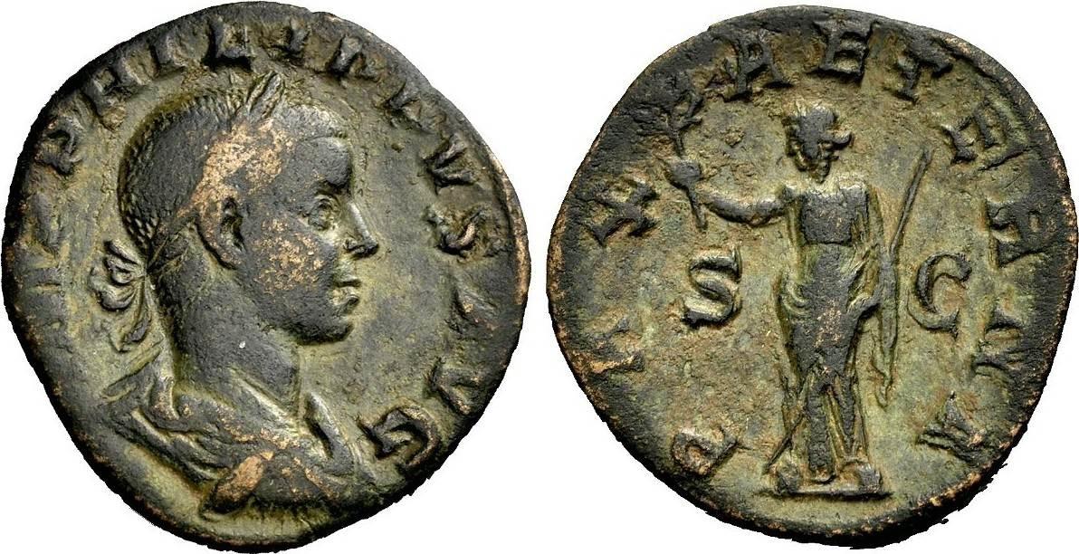 As 247-249 ROM, KAISERZEIT PHILIPPUS II. Sehr schön