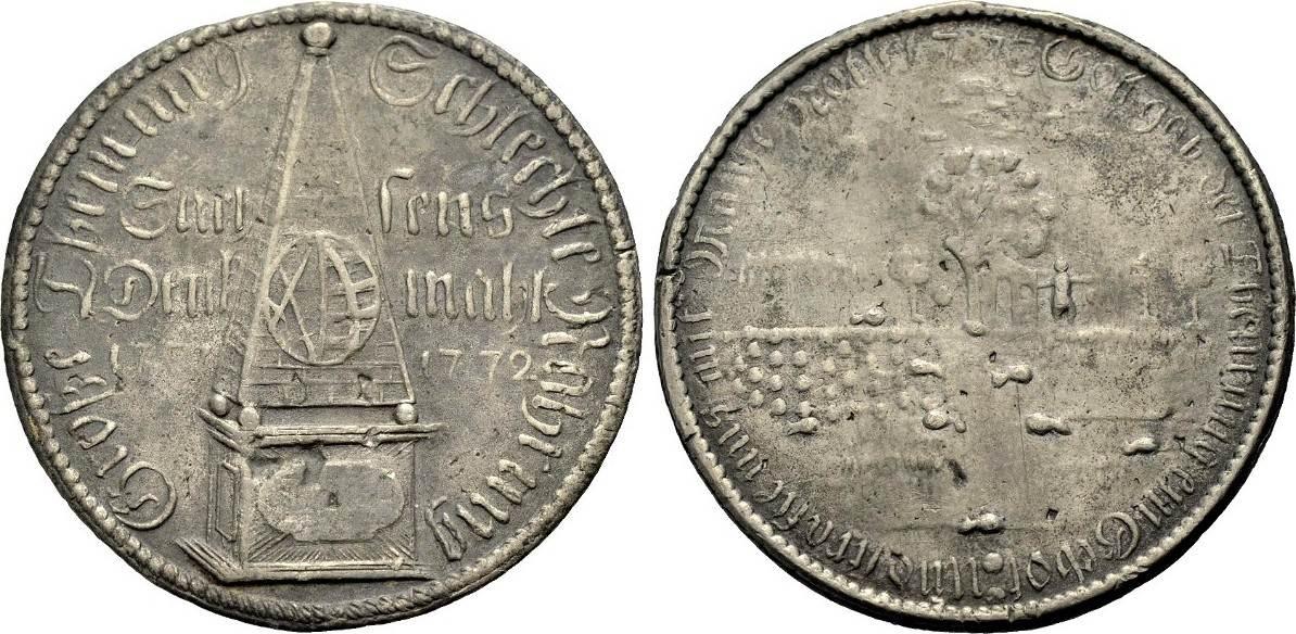 Zinngussmedaille 1773 Altdeutsche Medaillen Sachsen Auf Die