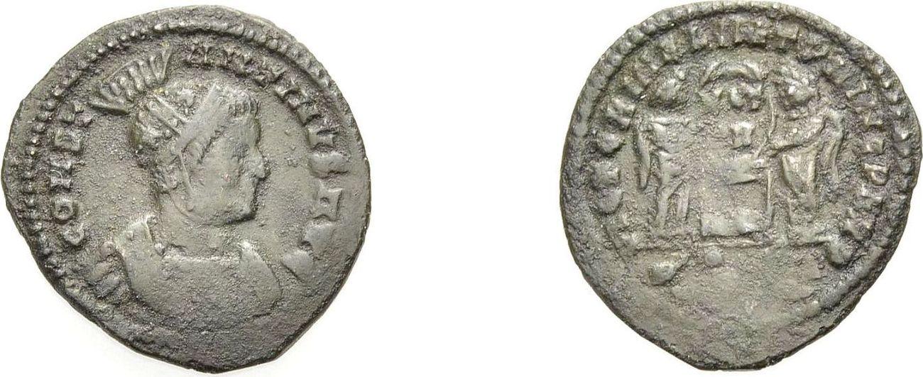 Nummus 318-319. ROM, KAISERZEIT CONSTANTINUS I. DER GROSSE, ARLES, SONDERBÜSTE Knapp sehr schön