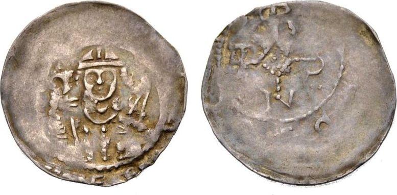 Pfennig 1207-1223 WÜRZBURG OTTO I. VON LOBDEBURG Sehr schön