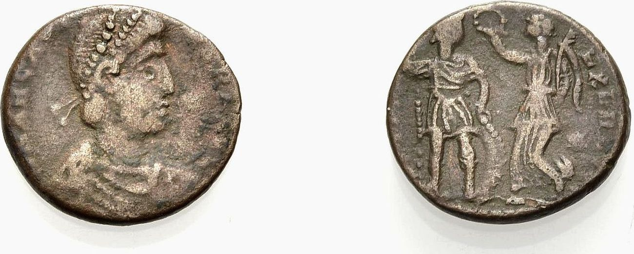 Kleinbronze 395-401 ROM, KAISERZEIT ARCADIUS Knapp sehr schön