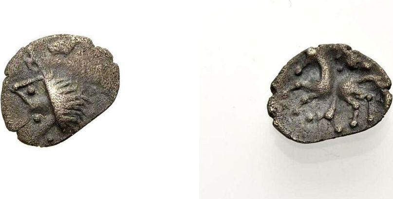 Kleinsilber 1. Jh. v. Chr. KELTISCHE MÜNZEN MANCHING TYP Sehr schön-vorzüglich