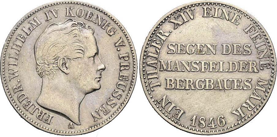 Taler 1846 A PREUSSEN Schön-sehr schön