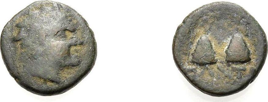 Bronze ca. 150 v. Chr. GRIECHISCHE MÜNZEN TAURISCHER CHERSONES: PANTIKAPAION Schön