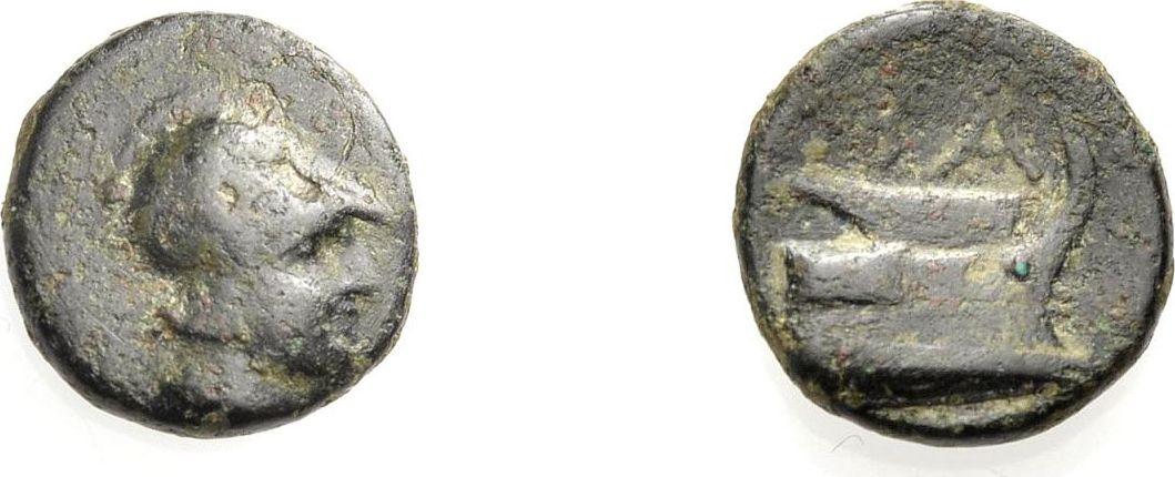 AE Kleinbronze 306-323 v. Chr. KÖNIGE VON MAKEDONIEN DEMETRIOS POLIORKETES Schön