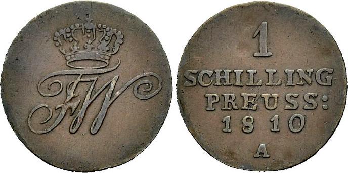 Schilling 1810 PREUSSEN für Ost- und Westpreußen Sehr schön