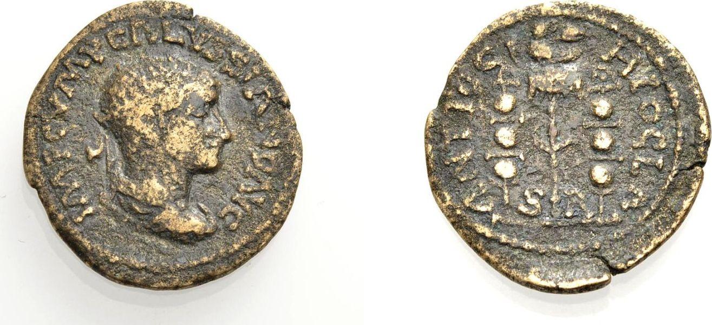 AE Bronze 251-253 GRIECHISCHE MÜNZEN UNTER ROM PISIDIEN, ANTIOCHIA, UNTER VOLUSIANUS Schön