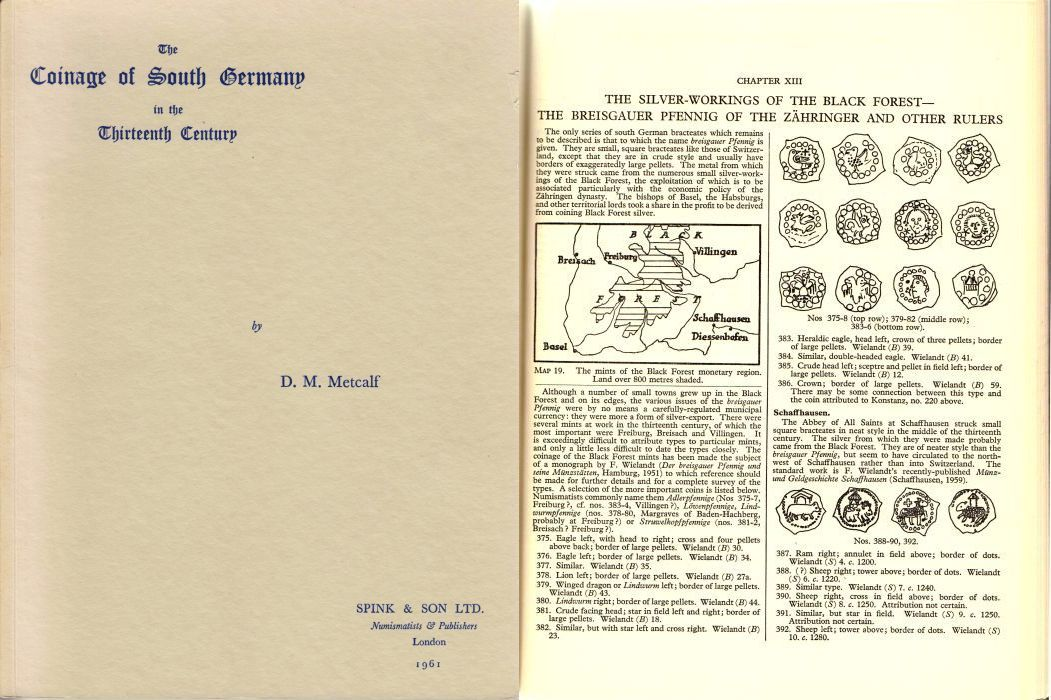 1961 METCALF The Coinage of South Germany in the Thirteenth Century.