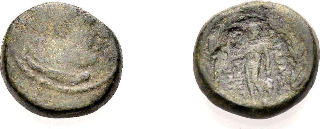 AE Kleinbronze nach 133 v. Chr GRIECHICHE MÜNZEN LYDIEN: SARDEIS Schön