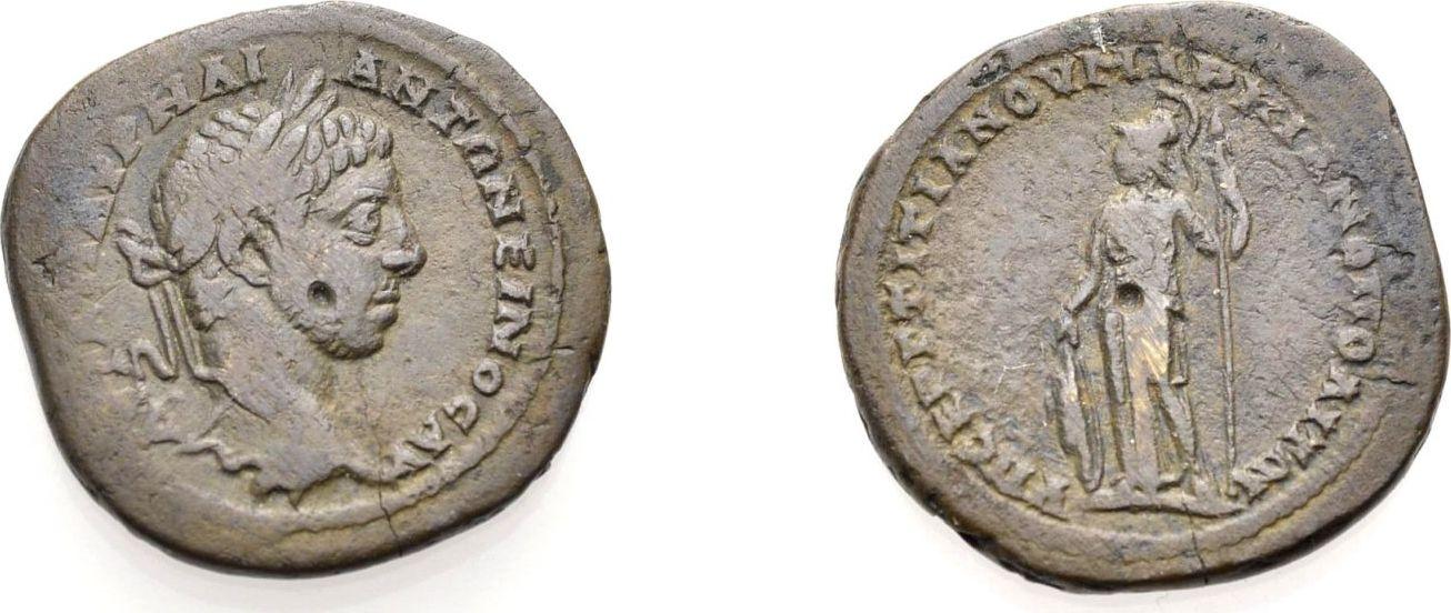 AE Bronze 218-222 GRIECHISCHE MÜNZEN UNTER ROM MARKIANOPOLIS, UNTER ELAGABAL Sehr schön