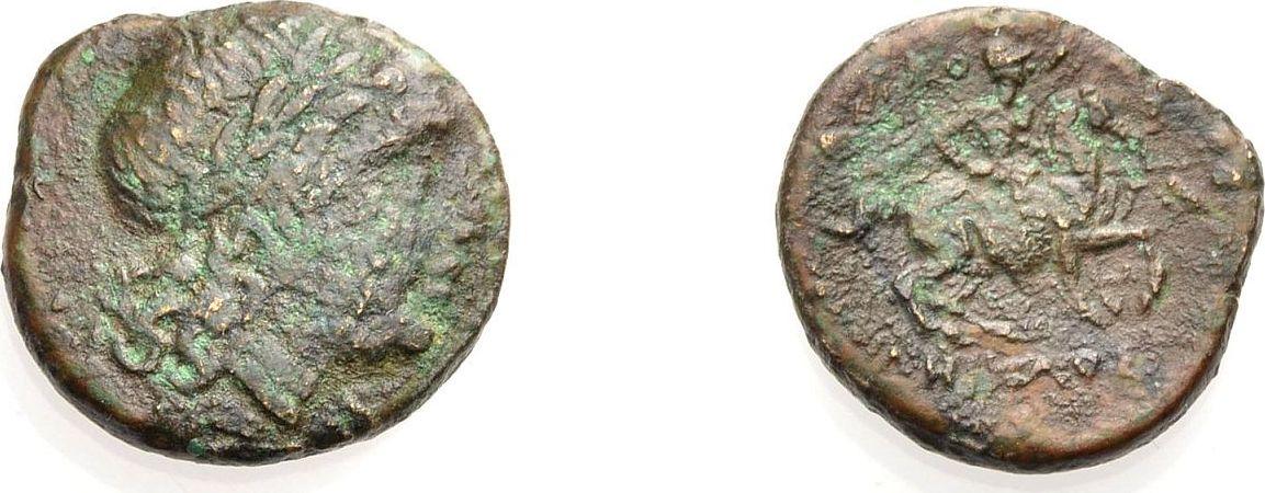 AE Bronze 350-300 v. Chr. GRIECHISCHE MÜNZEN IONIEN: KOLOPHON Schön