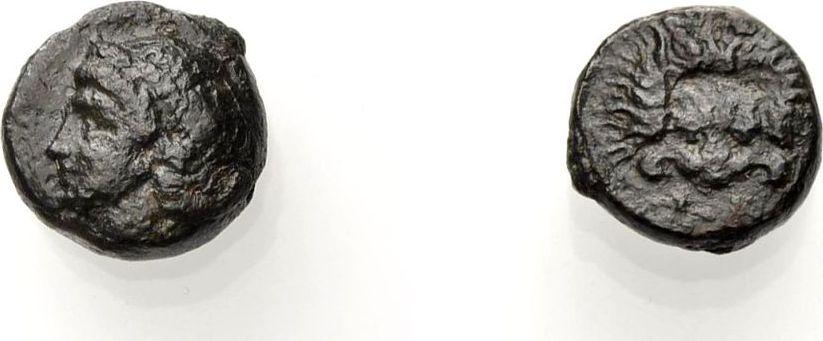 AE Kleinbronze 398-365 v. Chr. GRIECHISCHE MÜNZEN INSELN VOR IONIEN: SAMOS Sehr schön