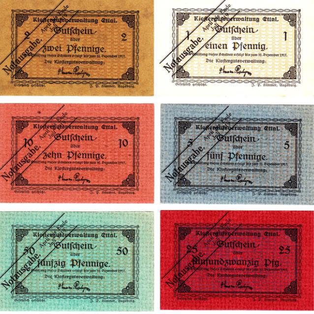 Notgeld 1917 DEUTSCHLAND KLOSTER ETTAL (BY) I