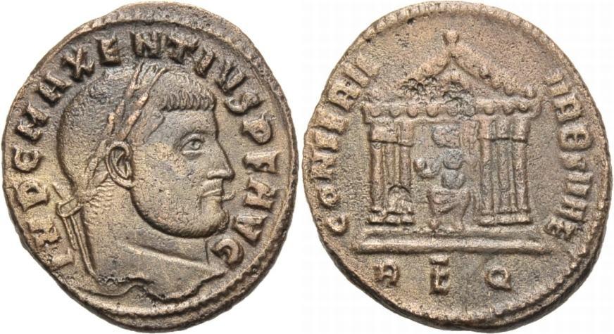 Nummus 308-310 ROM, KAISERZEIT MAXENTIUS, 306-312 Sehr schön-vorzuglich