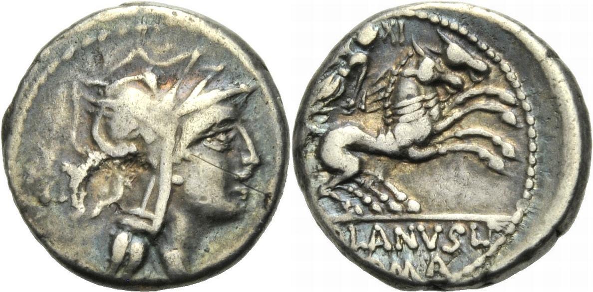 Denar 91 v. Chr. ROM, REPUBLIK D. IUNIUS SILANUS Schön-sehr schön