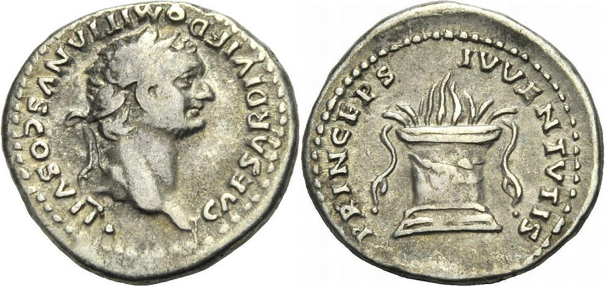 Denar 80-81 ROM, KAISERZEIT DOMITIANUS, UNTER TITUS Sehr schön