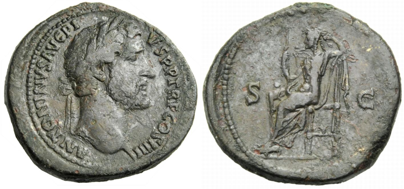 Sesterz 145-161 ROM, KAISERZEIT ANTONINUS PIUS Knapp sehr schön