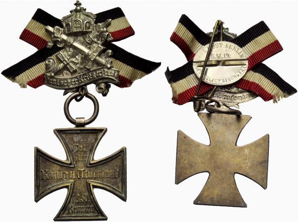 Abzeichen 1867 KEMPEN (Rheinland) Kriegerbund. Vorzüglich