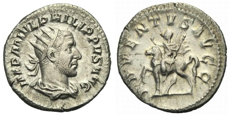 Antoninian 244-247 ROM, KAISERZEIT PHILIPPUS I. ARABS Gutes sehr schön-Rv knapp ss