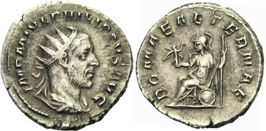 Antoninian 244-247 ROM, KAISERZEIT PHILIPPUS I. ARABS Gutes sehr schön