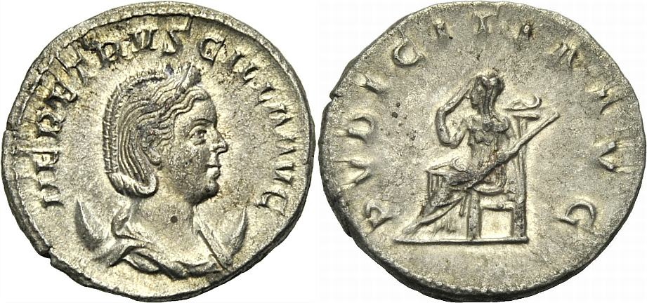 Antoninian 249-251 ROM, KAISERZEIT HERENNIA ETRUSCILLA Knapp vorzüglich