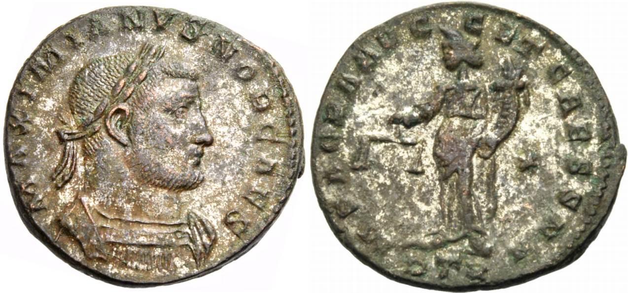 Follis ca. 300-301 ROM, KAISERZEIT MAXIMIANUS HERCULIUS, TRIER Gutes sehr schön
