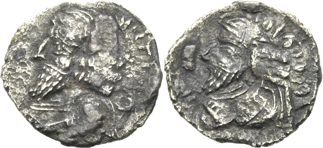 Hemidrachme 1. Jh. v. Chr. PERSIEN, PERSIS PAKOR I. Schön