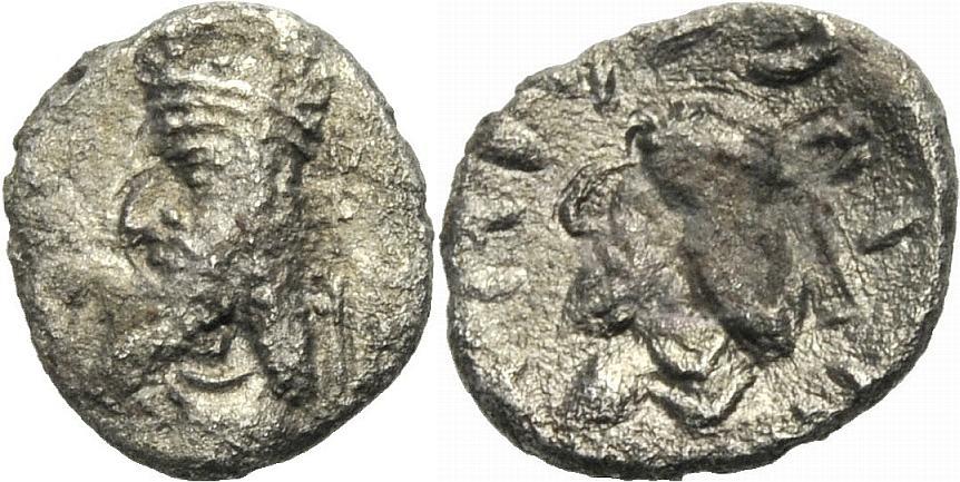 Halbdrachme 1.-2. Jh. PERSIEN, PERSIS MANCIHR II. Sehr schön