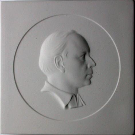 Porzellanplakette KPM 1977 Georg Kolbe von Sigmund Schütz Formfrisch