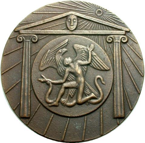 Bronzemedaille 1984 Sigmund Schütz Im Hause des Zeus Vorzüglich
