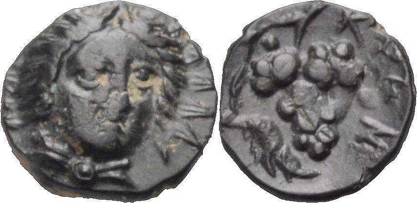 AE Kleinbronze 300-280 v. Chr. GRIECHISCHE MÜNZEN KARIEN: KRANAOS Sehr schön-knapp vorzüglich