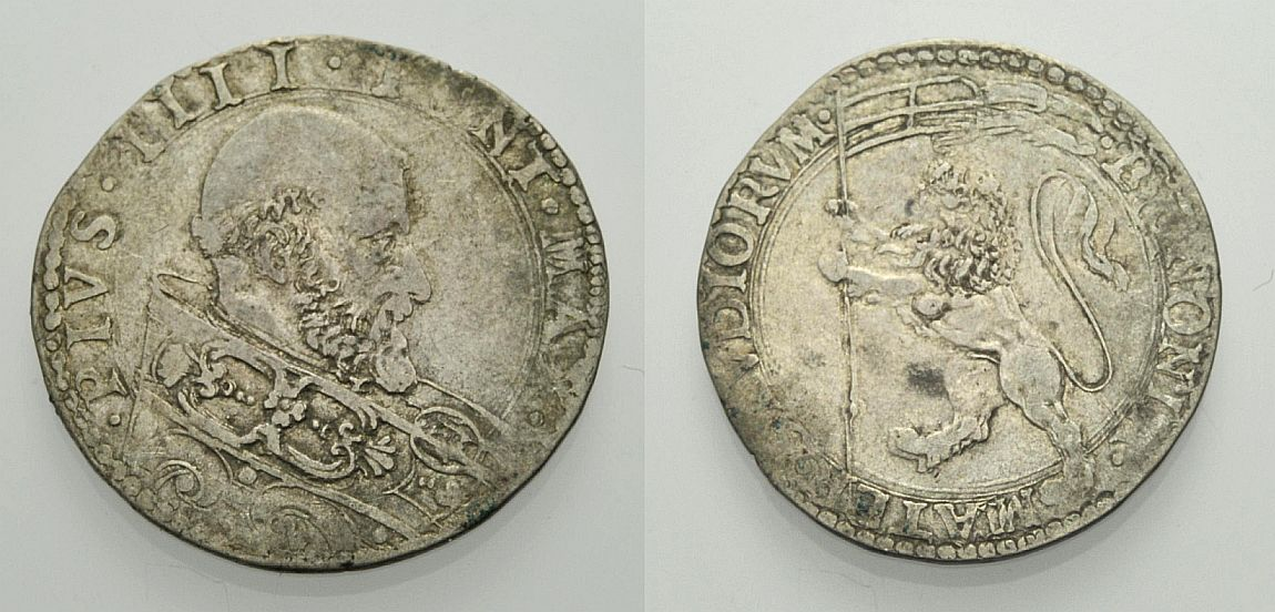 Bianco (mezza lira) s.d. ITALIEN: VATIKAN PIUS IV. (GIOVANNANGELO DE'MEDICI) Sehr schön