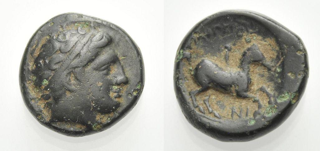 AE Bronze 359-336 v. Chr. KÖNIGE VON MAKEDONIEN PHILIPPOS II. Sehr schön