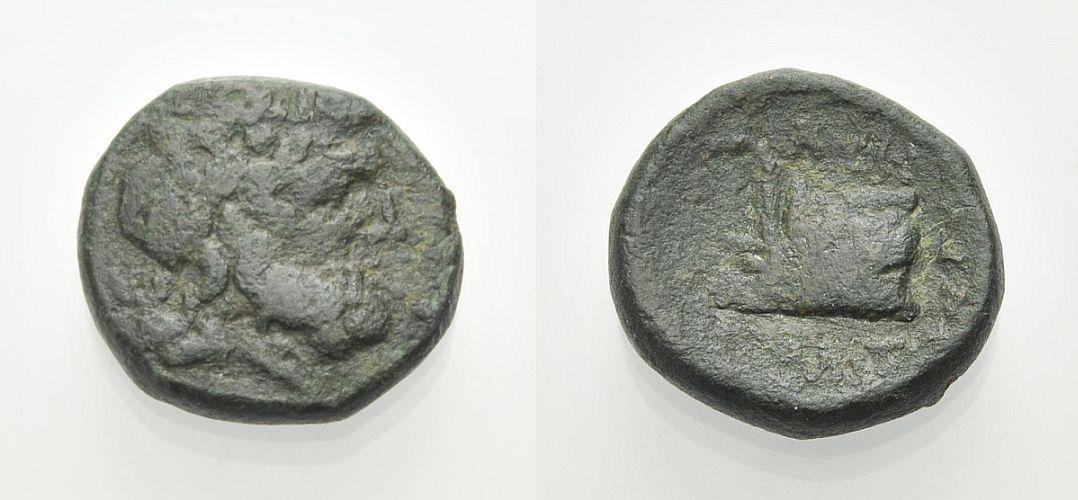 AE Bronze 187-31 v. Chr. GRIECHISCHE MÜNZEN AMPHIPOLIS Schön