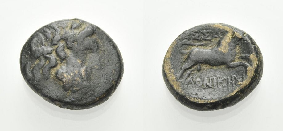 AE Bronze 187-31 v. Chr. MAKEDONIEN THESSALONIKE Sehr schön