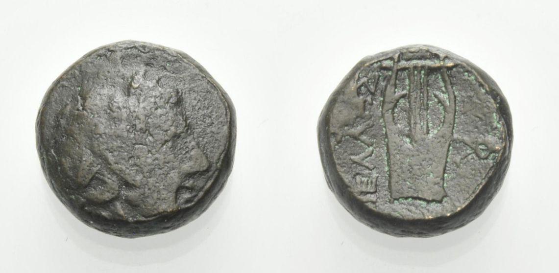 AE Bronze 187-168 v. Chr. MAKEDONIEN PELLA Schön, Rv. Sehr schön