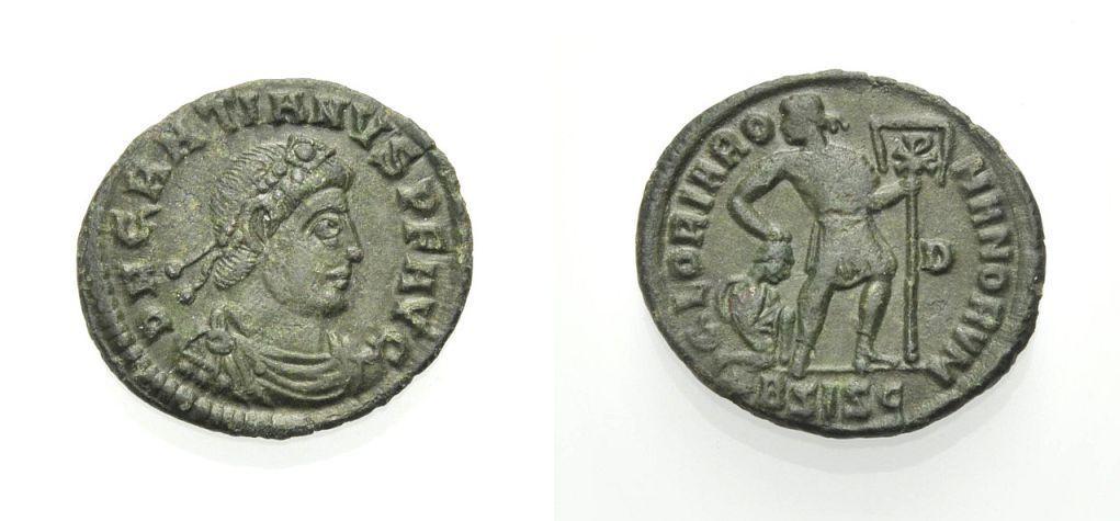 AE Nummus 367-375 ROM, KAISERZEIT GRATIANUS Sehr schön
