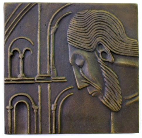 Bronzeplakette 1977 KÖLN St. Georg Vorzüglich