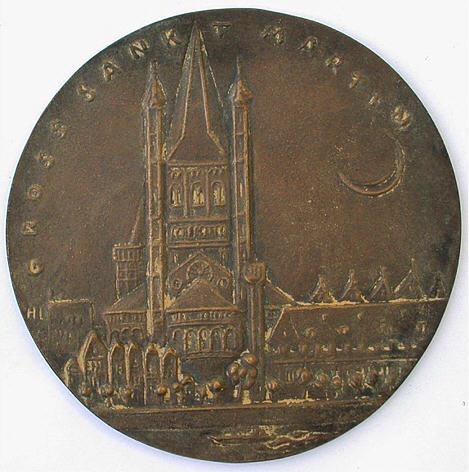 Bronzemedaille 1975 KÖLN Groß St. Martin Vorzüglich