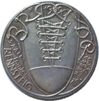 Silbermedaille 1990 WIEDERVEREINIGUNG von R. Heinsdorff Stempelglanz