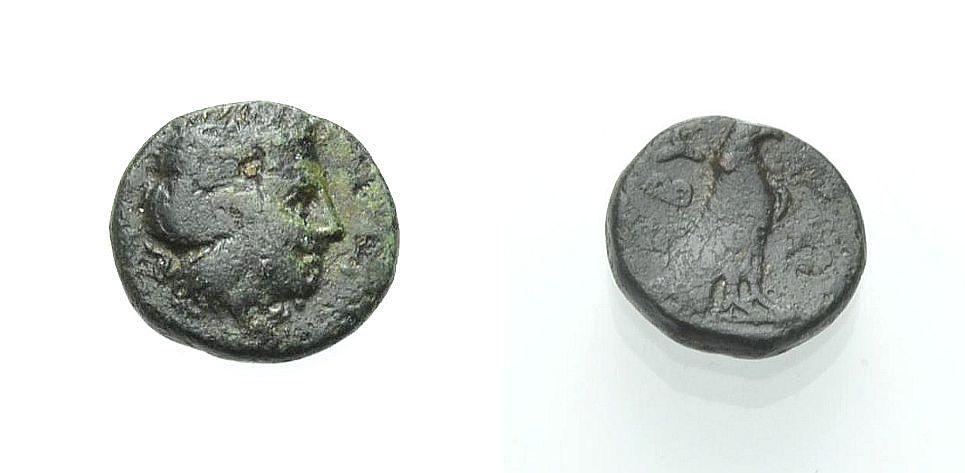 AE Kleinbronze 385-335 v. Chr. GRIECHISCHE MÜNZEN TROAS: ABYDOS Sehr schön