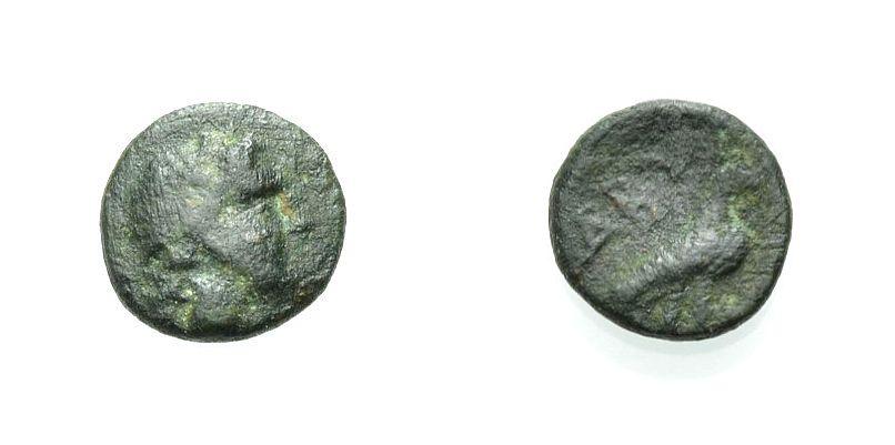 AE Kleinbronze 385-335 v. Chr. GRIECHISCHE MÜNZEN TROAS: ABYDOS Knapp sehr schön