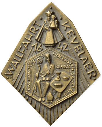 Bronzeplakette 1992 ELIGIUS Wallfahrt nach Kevelaer Vorzüglich
