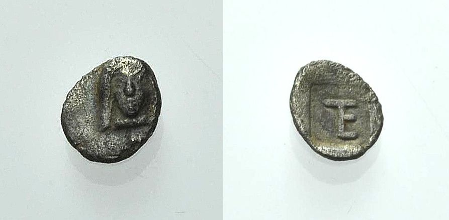 AR Viertelobol 480-460 v. Chr. GRIECHISCHE MÜNZEN IONIEN: KOLOPHON Sehr schön