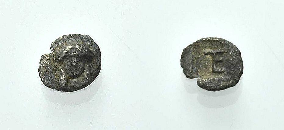 AR Viertelobol (Tetartemorion) 480-460 v. Chr. GRIECHISCHE MÜNZEN IONIEN: KOLOPHON Sehr schön