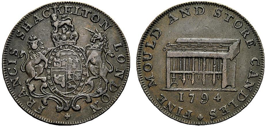 Halfpenny 1794 LONDON Kerzenmacher Sehr schön